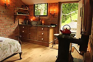 lounge and dining areas of the holiday cottage
