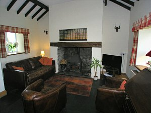 lounge of the holiday cottage